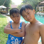 mew and dew at pool