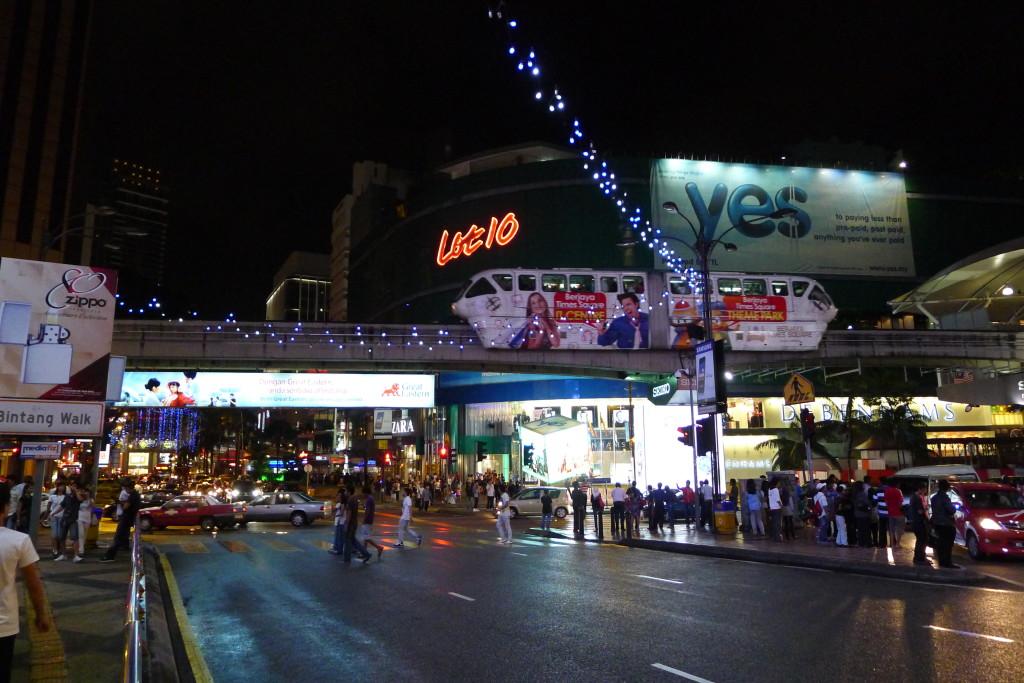 Bukit Bintang - a very popular tourist center in KL...