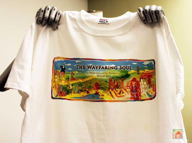 Make a $100USD donation and get a snazzy Wayfaringsoul shirt...