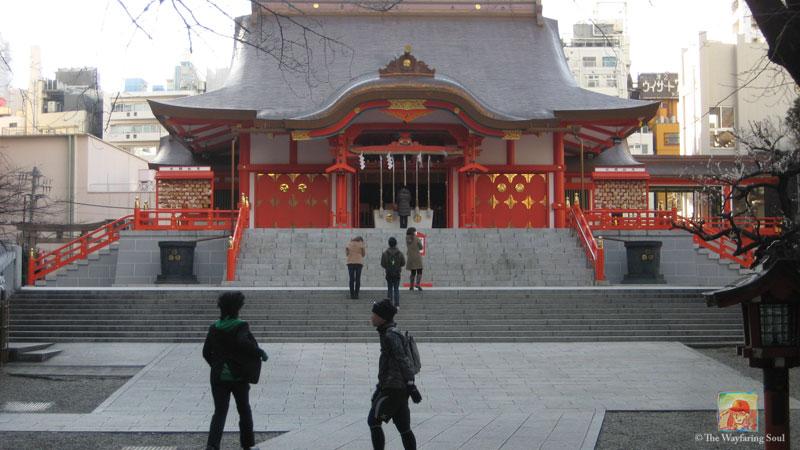 Hanazono Shrine near Meiji Dori Avenue...