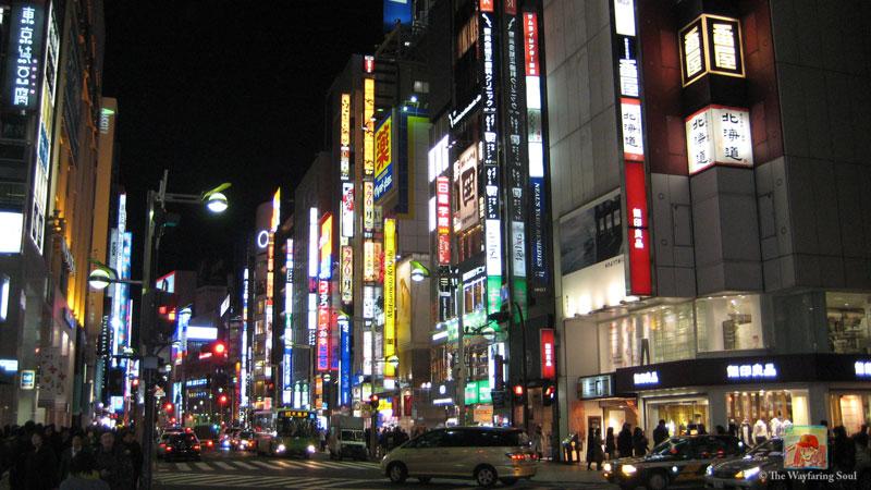 Shinjuku comes more alive at night...