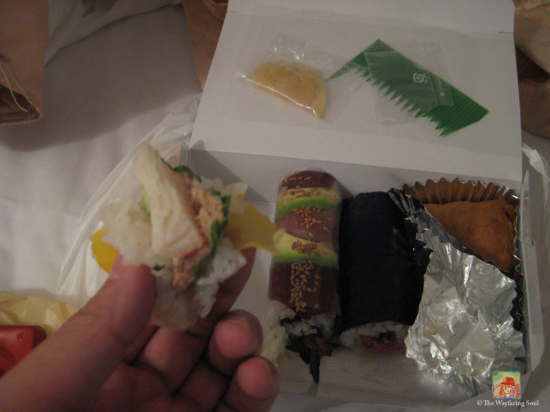 This sushi set cost around $10USD after a big discount after 7pm at Isetan Department Store - It was so good my camera hand was shaking...