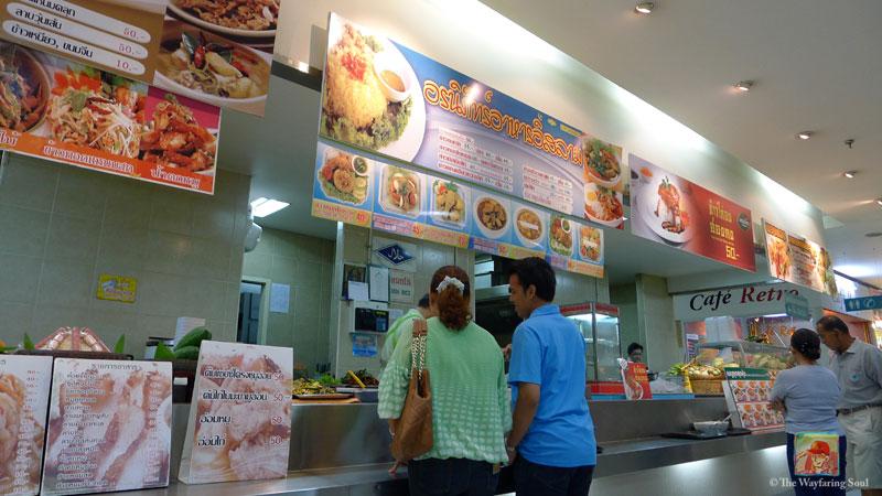 An Islamic food stall at JJ Mall Bangkok