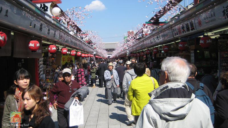 This shopping street called Nakamise leads all the way up to the entrance of Sensoji Temple...