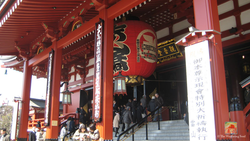 The steps to the entrance of Sensoji Temple...