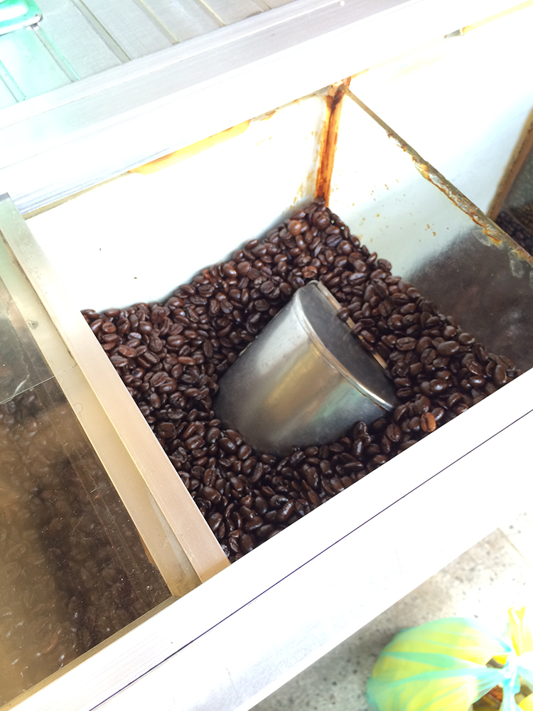 Glorious fresh roasted coffee beans in Ho Chi Minh City...