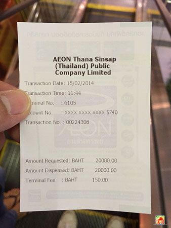 Yup, No More Fee Free ATMs in Thailand…