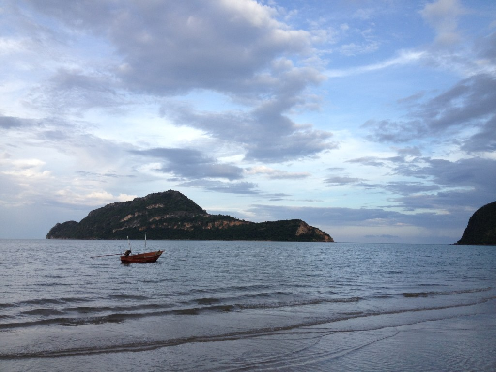 Quiet beaches are a common sight in Prachuap Khiri Khan...