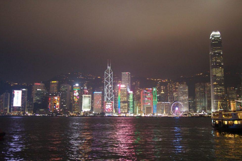HK Victoria Harbor at Night