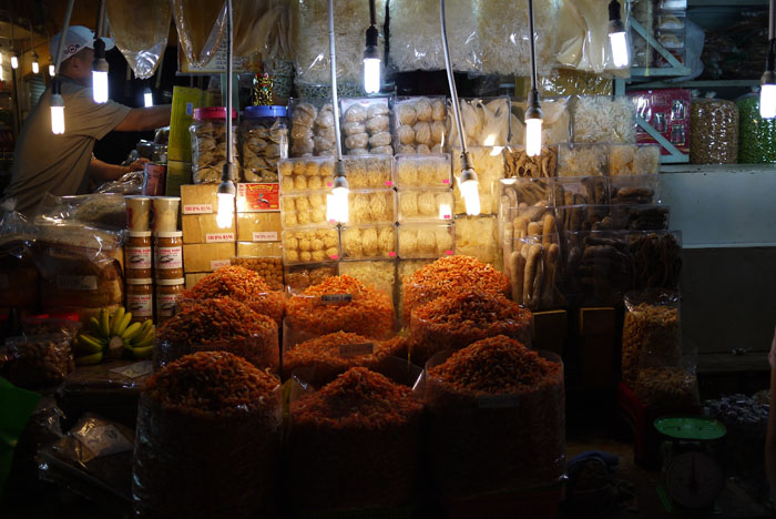 A payload of fragrant dried shrimp...