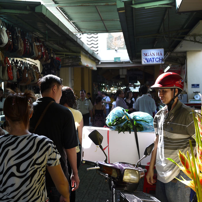 Ben Thanh Market is also filled with local shoppers...