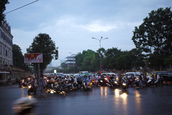 Mopeds and motorcycles rule the roads in HCMC...