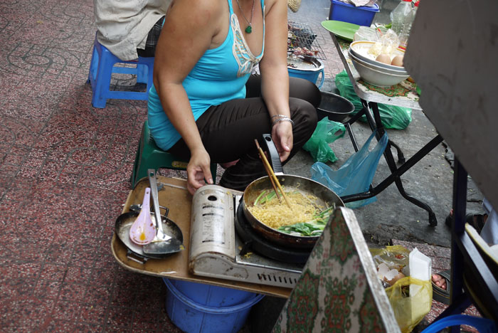 Local street vendors cooking their own food is a common sight...