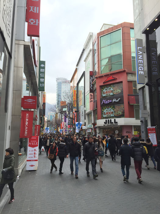 Lots of shops in Myeongdong...