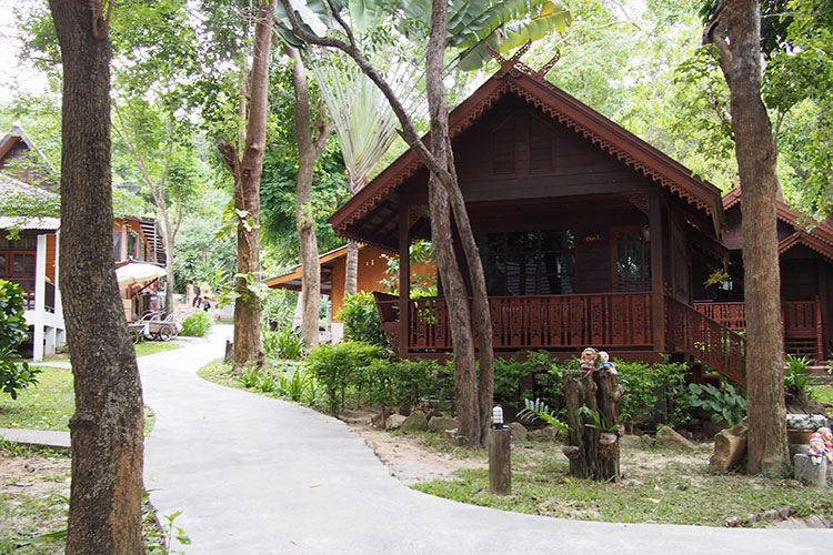 One of the Thai style houses at Vongdeuan Resort...