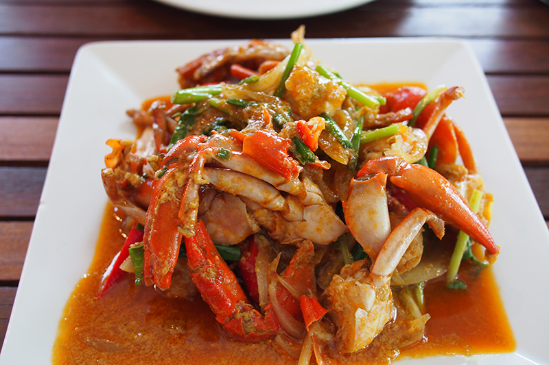 Yes! They've got fresh crabs, this is chili style...