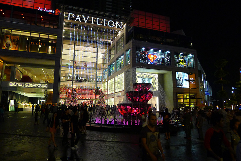 Pavillion Mall, a posh mall in Bukit Bintang area, just minutes away on foot from Piccolo Hotel...