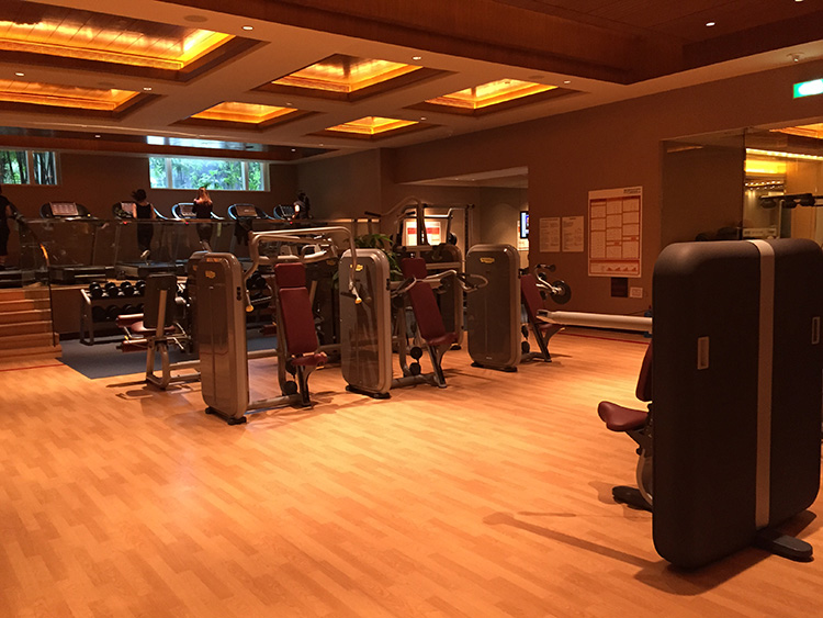 Very nice fitness center at the Sheraton Macao...