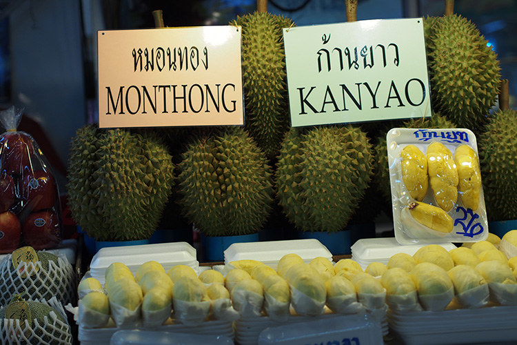Monthong and Kanyao durian varieties are very popular now...