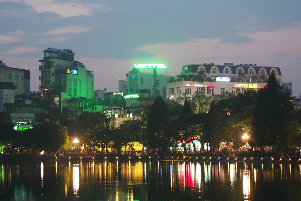 A very beautiful lake in the Old Quarter of Hanoi...