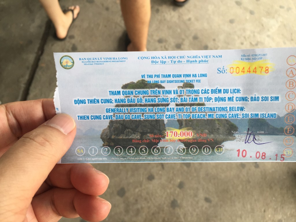 Price of this ticket was of course included in tour package...