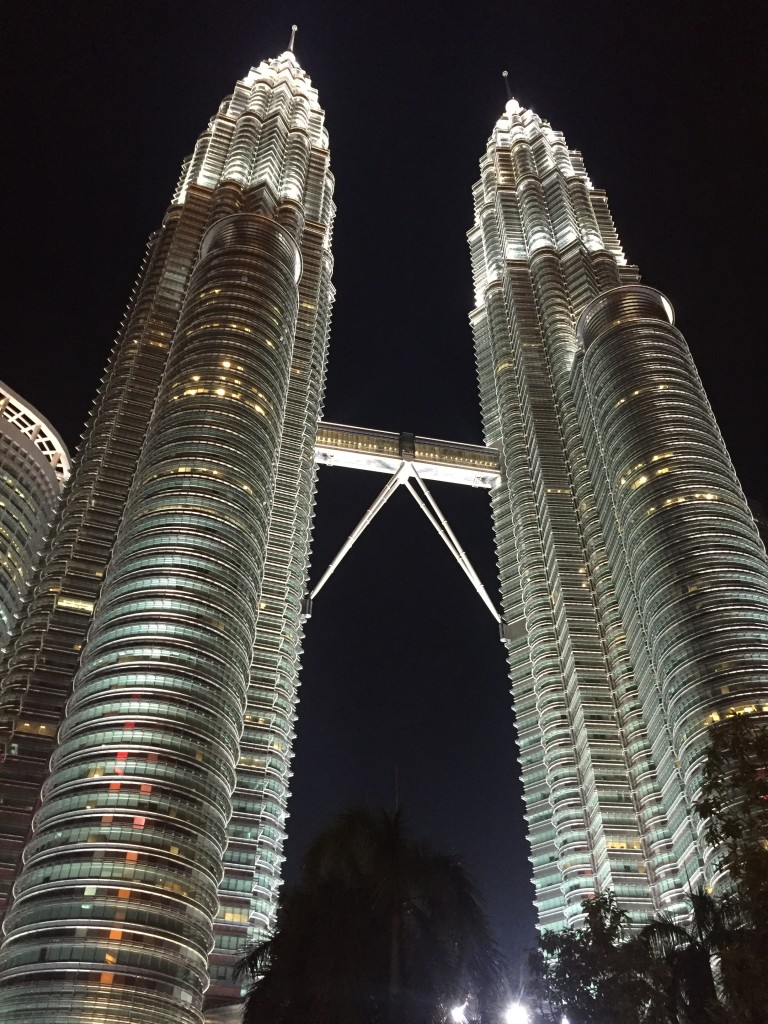 One of the most majestic skyscrapers in the world, the Petronas Towers...