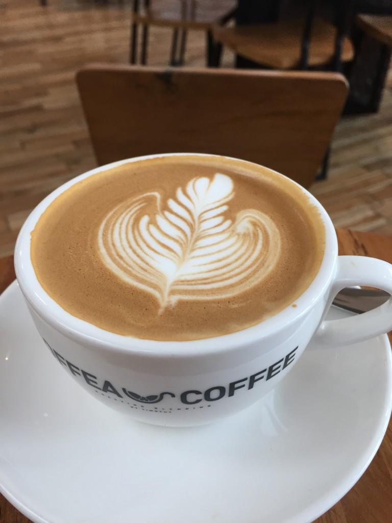 Hot Latte at Coffea Coffee
