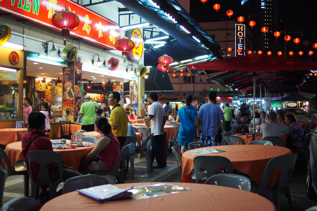 This is the entrance to Jalan Alor, a popular hawker food area in KL... a very short walk from Sky Hotel