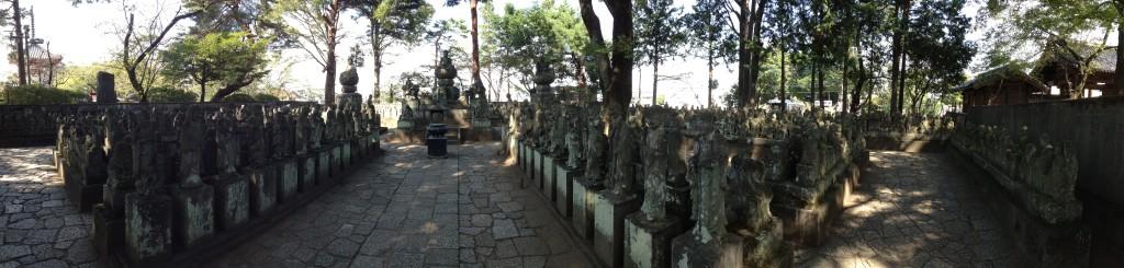 Gohyaku Rakan statues at Kitain Temple in Kawagoe...
