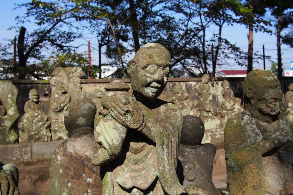 Gohyaku Rakan statues...