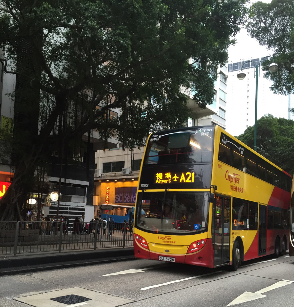 You can catch the A21 bus to the airport on Austin and Nathan Road intersection, a short walk from BP Hotel...