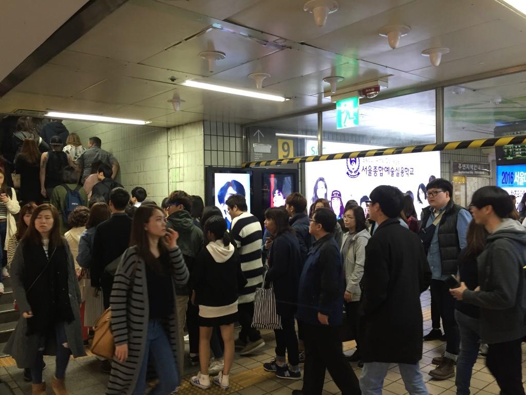Exit/Entrance #9 at Hongik University Station...
