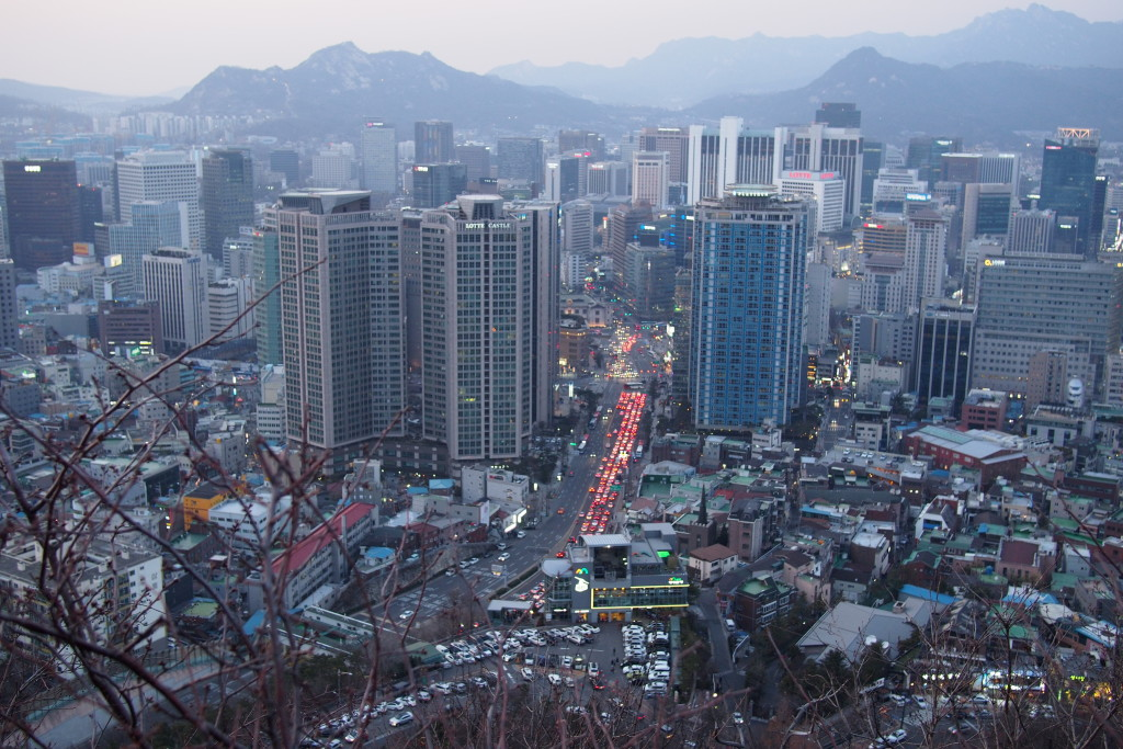 A view from Namsan Mountain