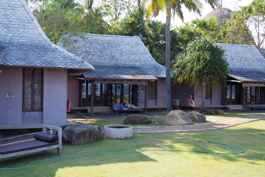 There are 3 tropical village style villas...