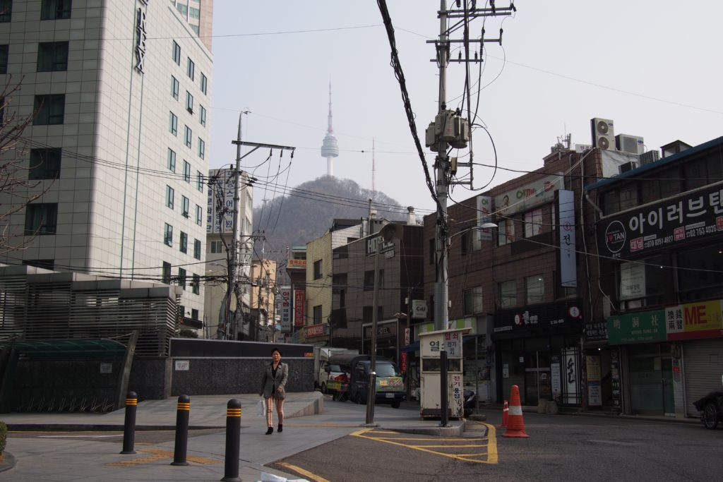 Walk up this street, Seoul City Hotel is about 100 meters up.
