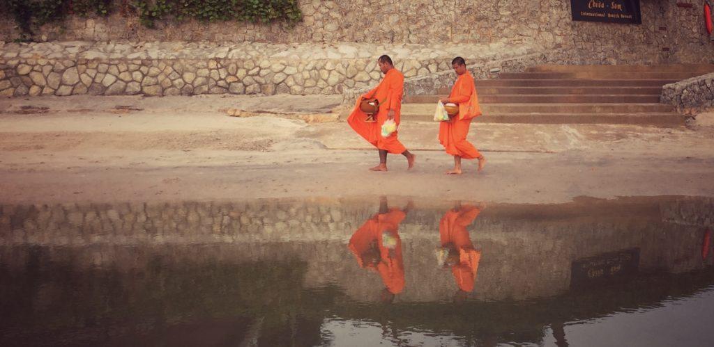 Morning Monks in Hua Hin