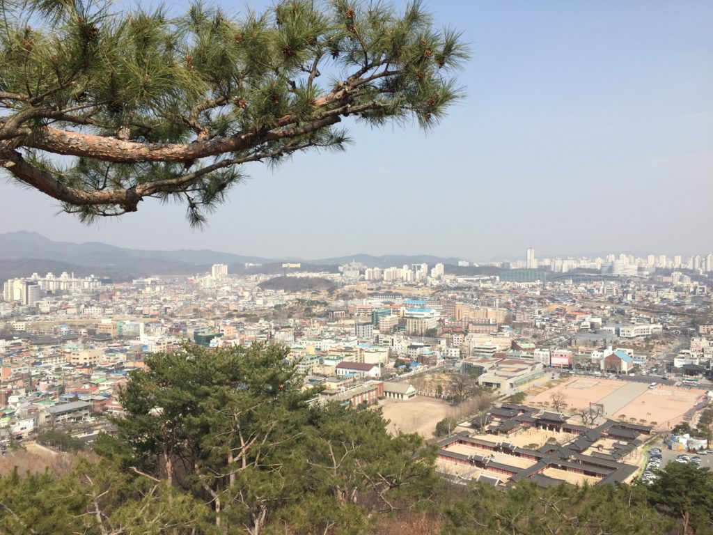 The view from Seojangdae command post...