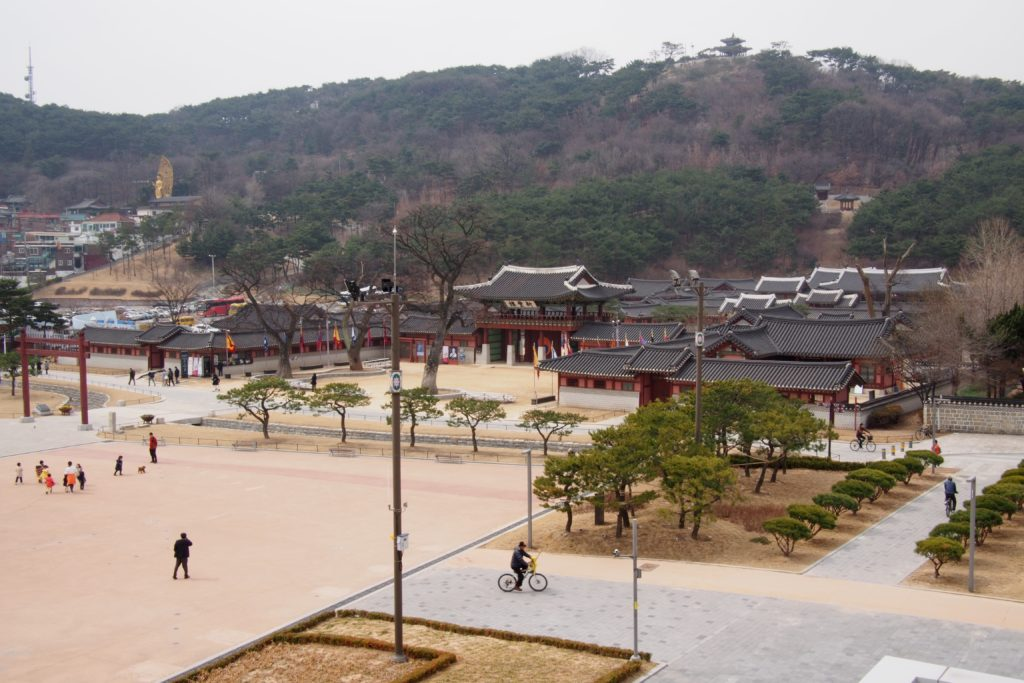 The outside entrance of Hwaseong Temporary Palace...