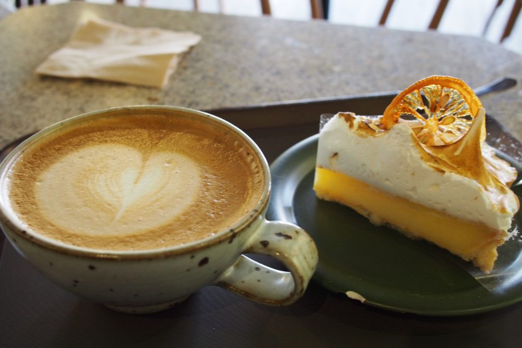 One good cup of coffee and sweet pie!