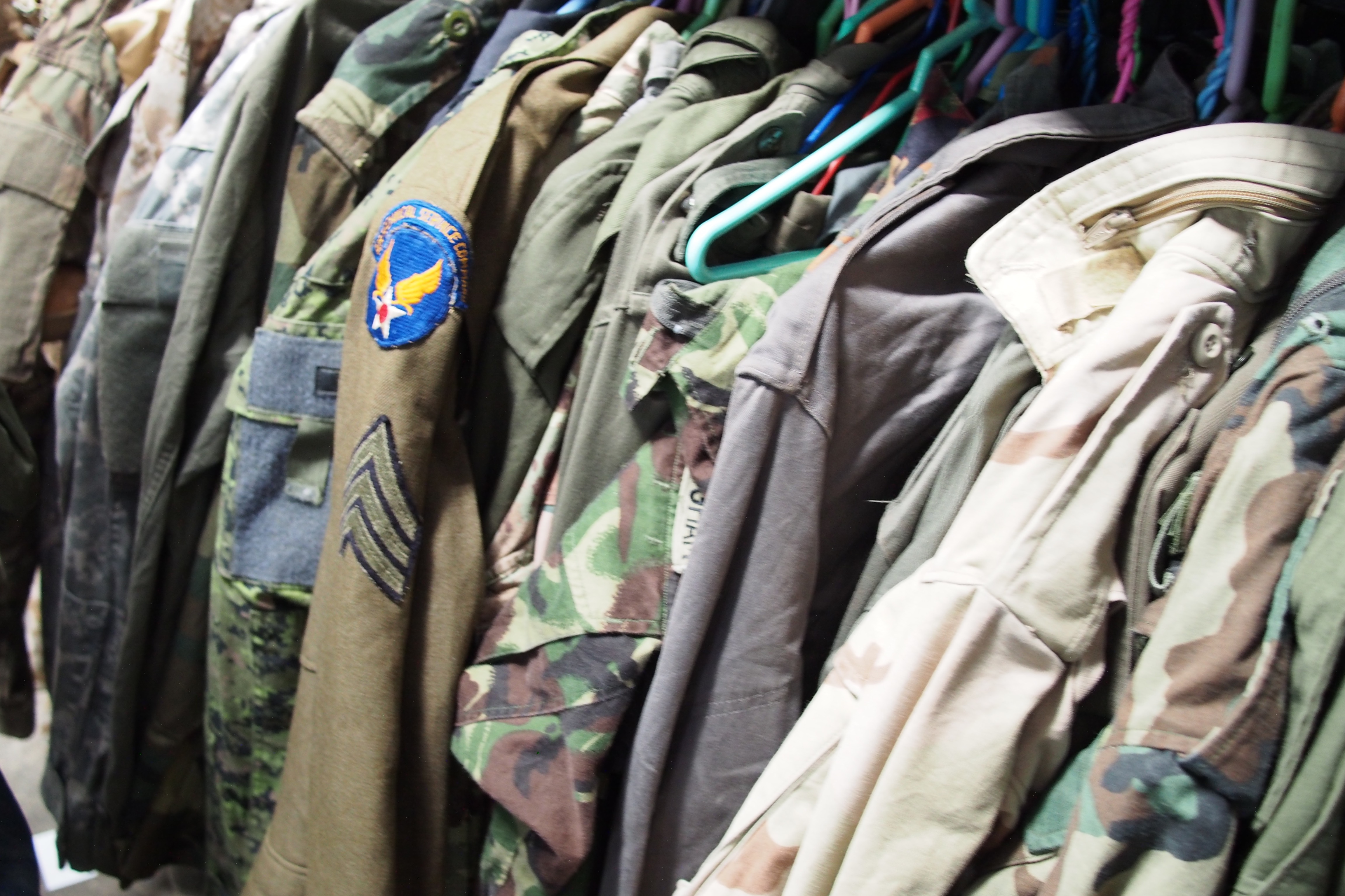Surplus military clothing in Chatuchak