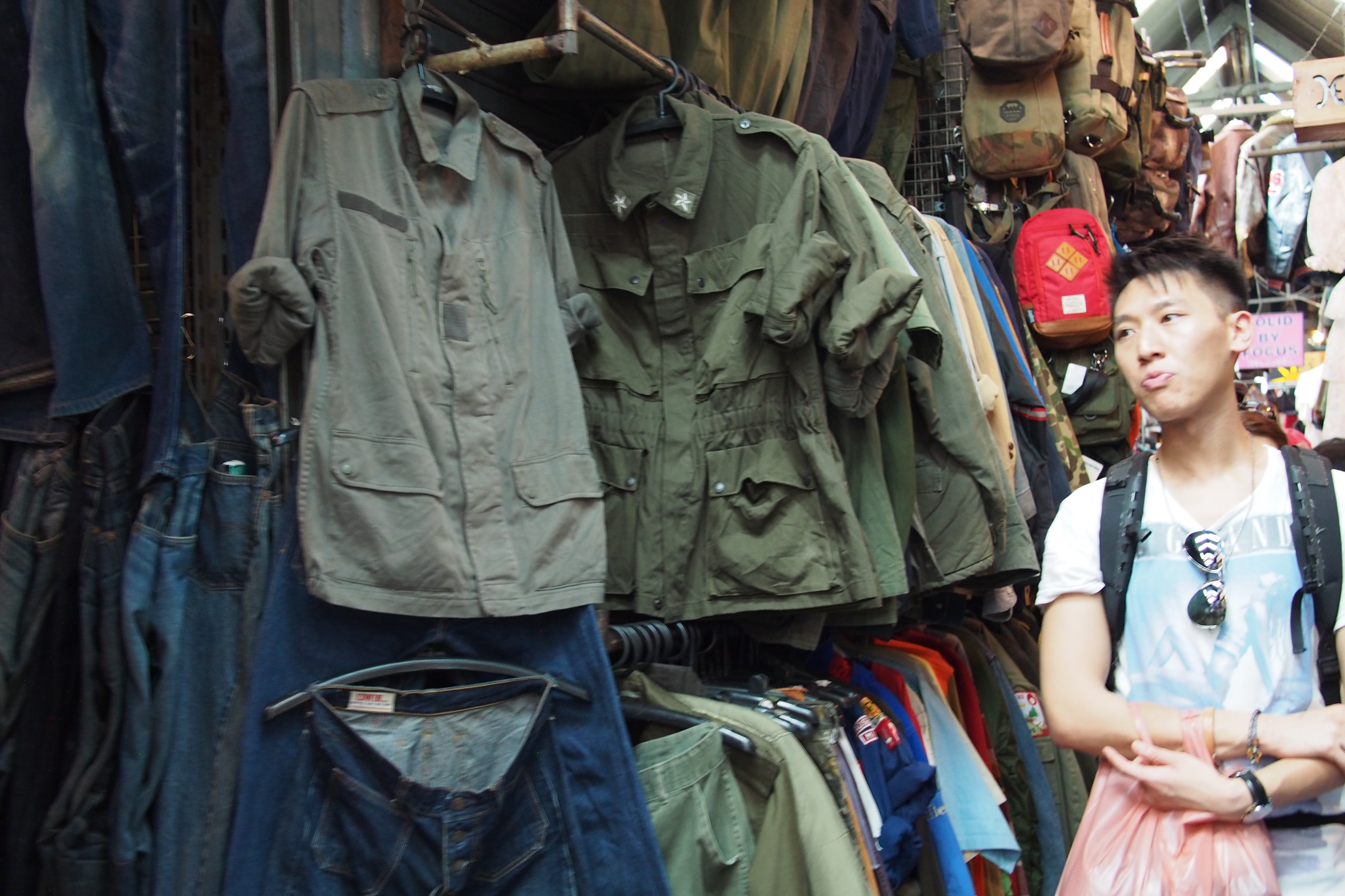 Military clothes sold in Chatuchak