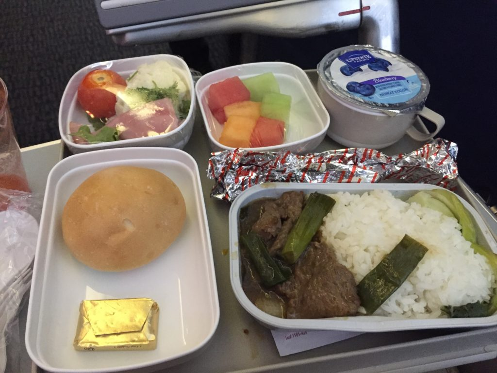 Air China Meal from EWR to PEK