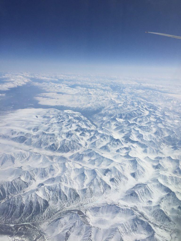 Air China flies through North Pole