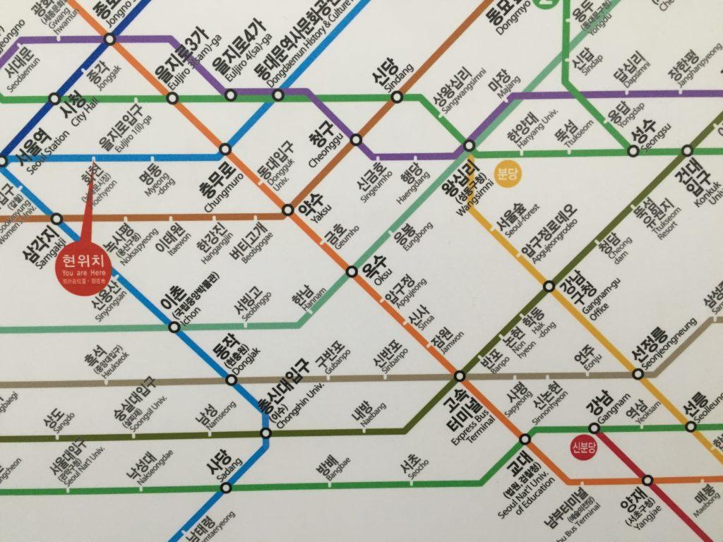Seoul Subway Train Map