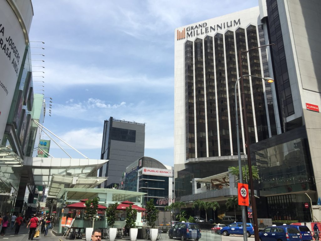 The heart of Bukit Bintang's tourists district...
