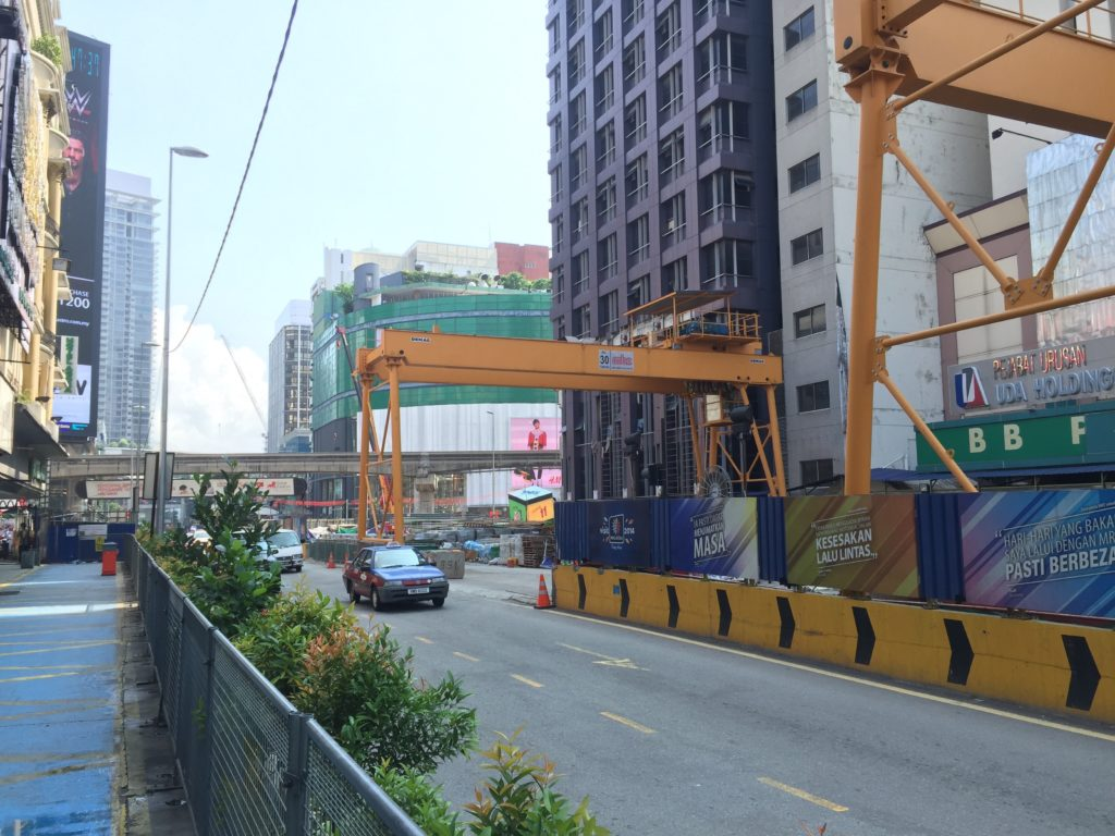 The completion of Bukit Bintang's subway line could be years from now...