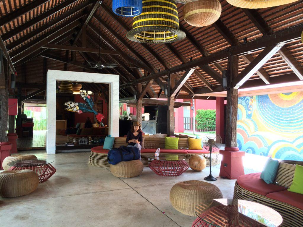 A trendy spacious lobby at the Escape Hua Hin...