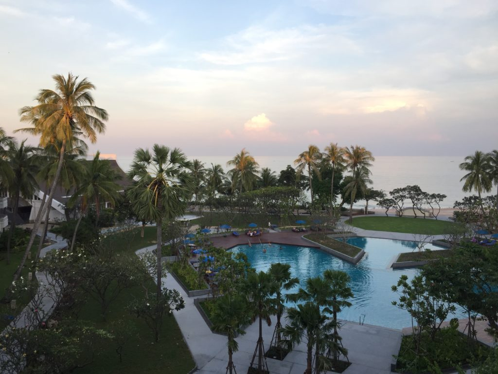 A view from the Regent Cha Am Resort in Hua Hin booked through Agoda.com...